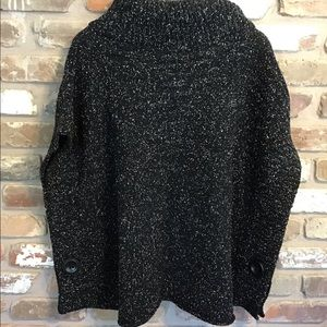 Jones New York Sweaters - JONES NEW YORK Turtleneck Cape Speckled Poncho